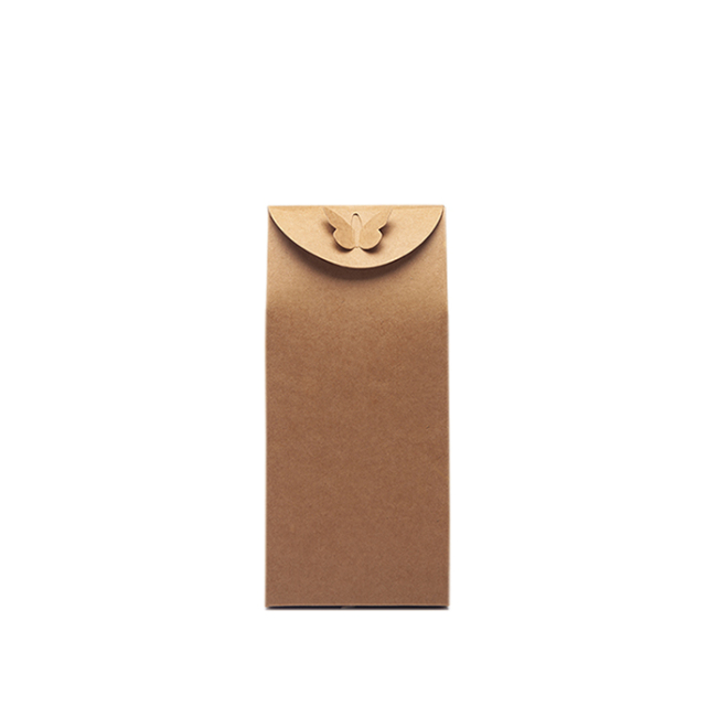 Kraft paper gift box brown stand paper return bag for new style Christmas gifts bag