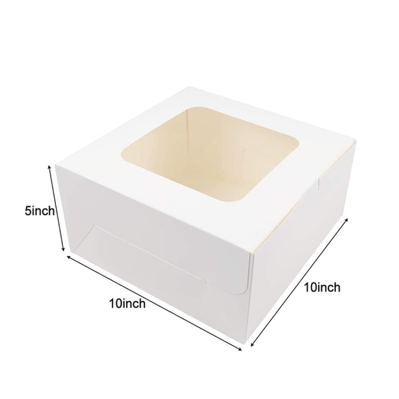 Baby welcome party custom transparent window wave design paper box cheesecake cup cakes paper box