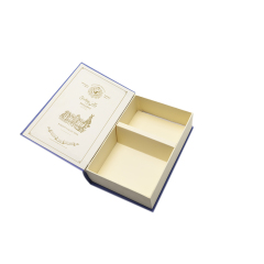 New wholesale paper packaging gift box cardboard empty book shaped empty tea box