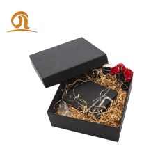 Ins Hot Spot Wholesale Black Rectangular Gift Box For Perfume Drink Scarf