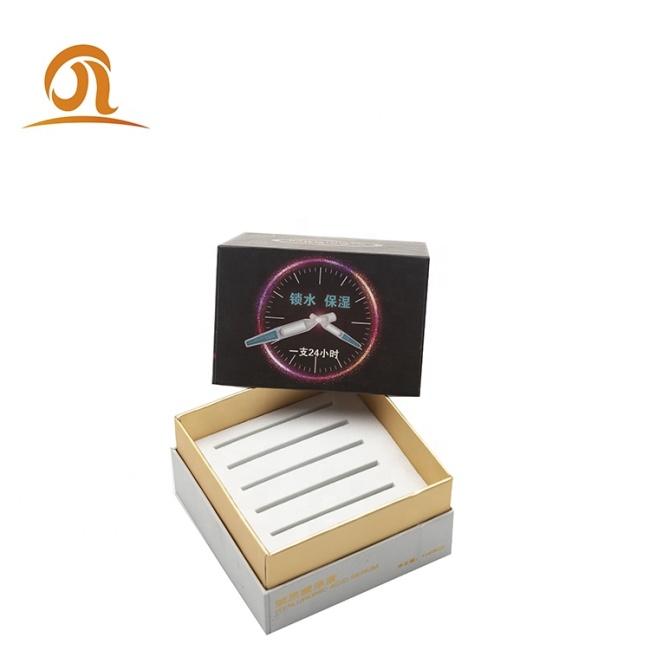 Luxury custom paper perfume Rigid cardboard box empty gift cube boxes with eva tray