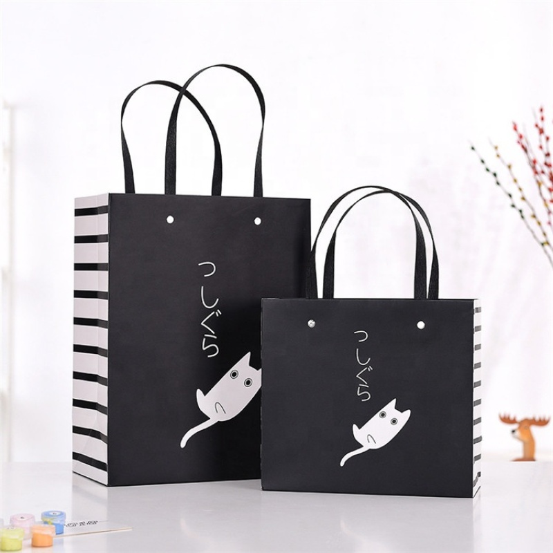 Food grade lining shopping grocery cheap paper carrier bag