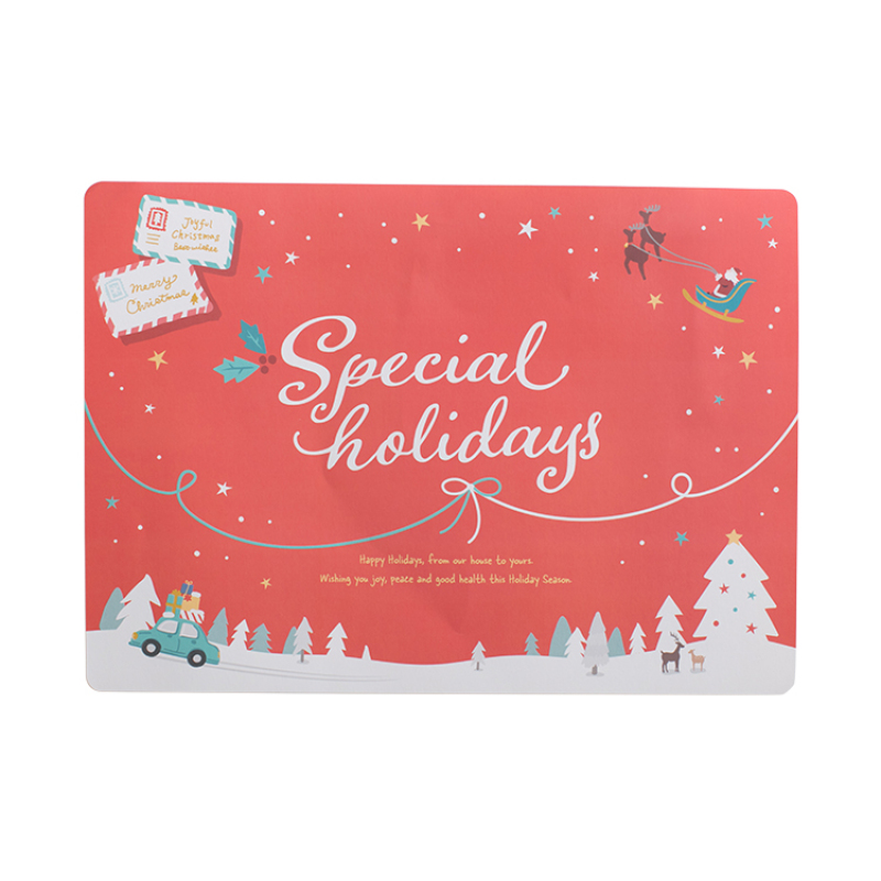 New Selling Wholesale Customized Christmas Party Paper Disposable Placemats