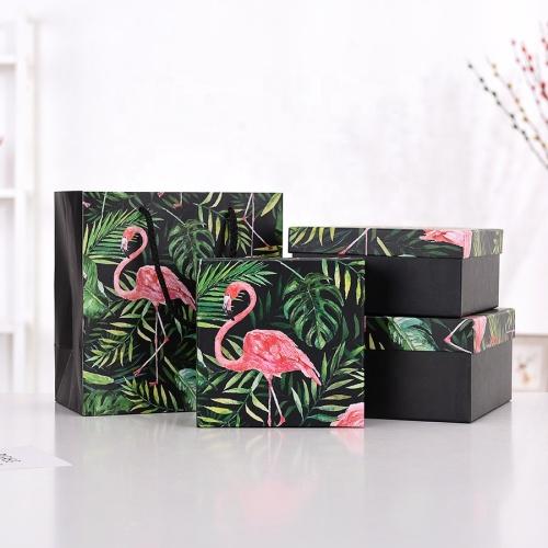 Custom shopping paper bag gift box set