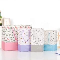Custom craft shopping large gift paper bag kraft for bottle jar