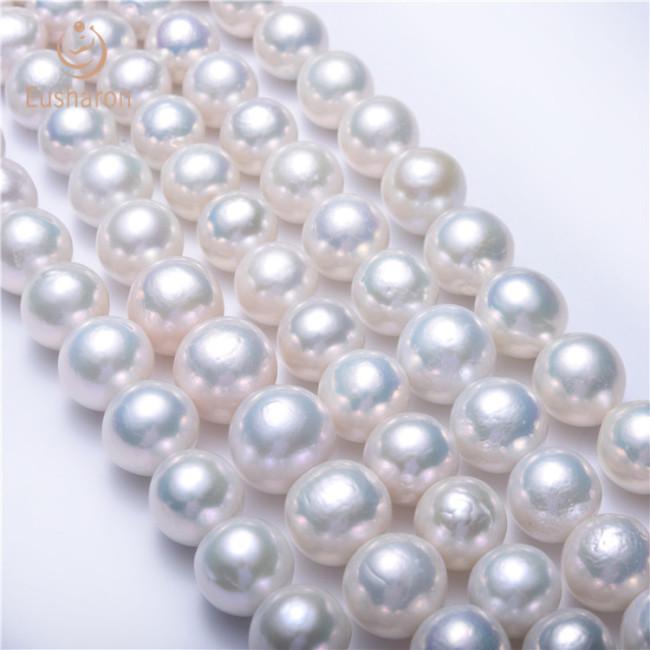 12-14mm Round Edison White Color Pearl Strand
