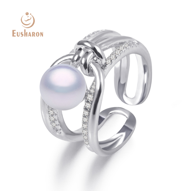 Wholesale Kink Sterling Silver Pearl Ring