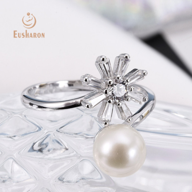 Sunflower Sterling Silver Freshwater Pearl Ring