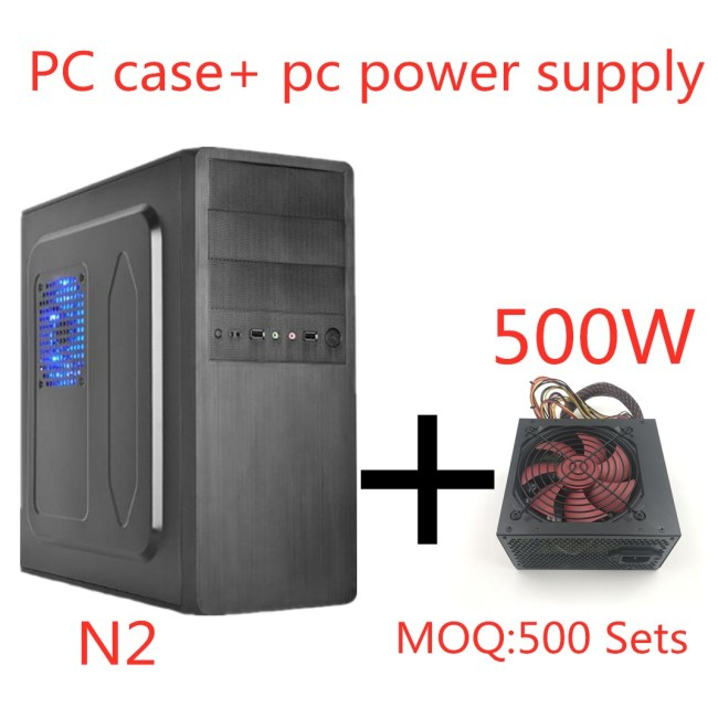 Ngola N2 Cold Panel Design Desktop ATX Computer Case+500W power supply