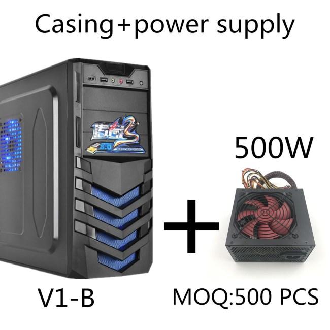 Shield-Type Panel New Designcomputer Case Full Tower ATX PC Case+500W power supply