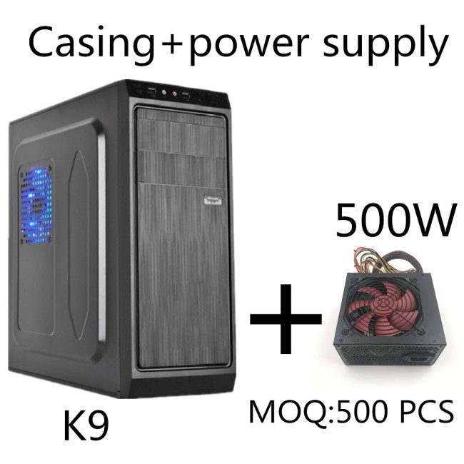 Desktop Computer Case Middle Tower Design ATX PC Case+500W power supply