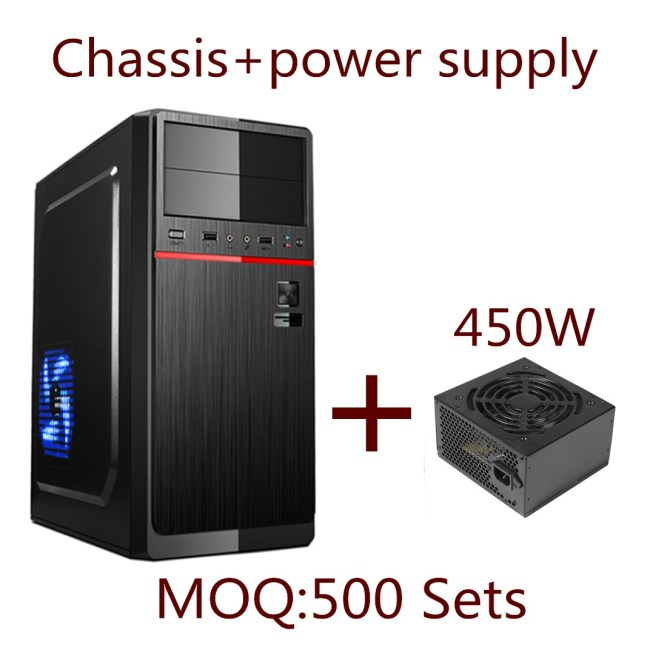 Popular ATX Computer Case Desktop Computer Chassis+200W power supply
