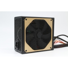 Brand new active golden bezel self-net ATX power supply with 14cm large fan