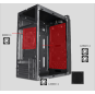 165-20 Gaming case with left glass plate colorful line on the panel