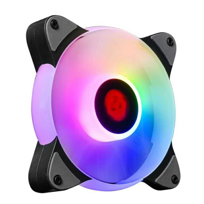 RGB Chassis Cooling Fan 12cm LED Discolor Frame Inner Glow