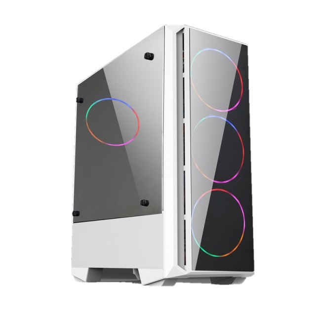 Internet cafe standard large chassis double mirror glass USB3.0 gaming Computer chassis