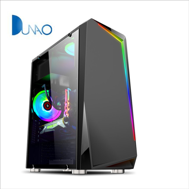 2019 new black glass game chassis factory price C005