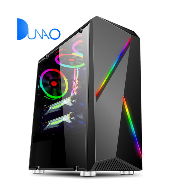 2019 new black color glass game chassis factory price C006