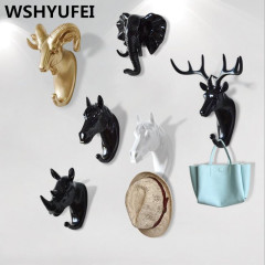 New ROTOCAST Material Light Environmental Protection Animal Hook Home Decoration Wall Storage Rhinoceros Simulation Wall Hanging
