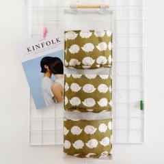Cute Wall Sundry Cotton Line Hanging Organizer Bag Multi-layer Holder Makeup Rack Jewelry Storage Box Basket Home Decoration