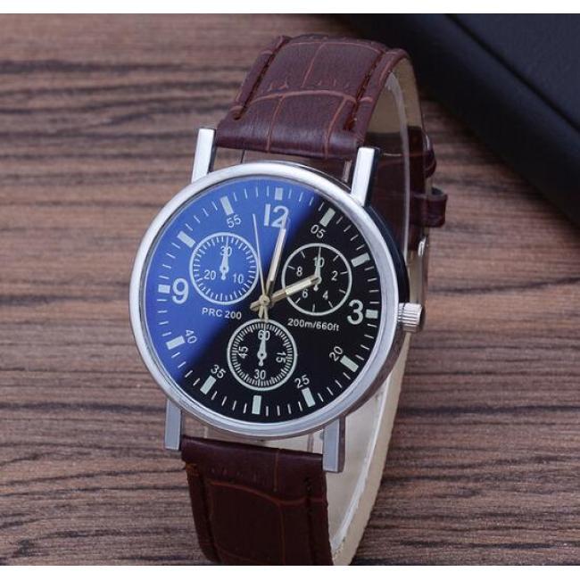 Quartz men's watch Blu-ray glass belt watch