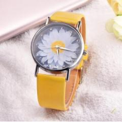 New Fashion Ladies Watch Womens Flower Casual Leather Analog Quartz Wrist Watches Quartz Clock Gifts Relogio Feminino