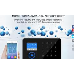 Switchable Wireless Home Security WIFI GSM GPRS Alarm system APP Remote Control RFID card Arm Disarm