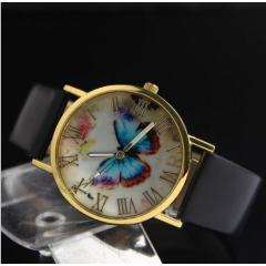 New color butterfly watch European and American fashion Geneva casual watch