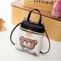 New Women's Mobile Phone Bag Cartoon Female Messenger Shoulder Bags Crossbody Cute Fashion Pu Leather Bags Mini Bear Handbags