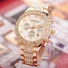 Women Watches Stainless Steel Exquisite Watch Women Rhinestone Luxury Casual Quartz Watch