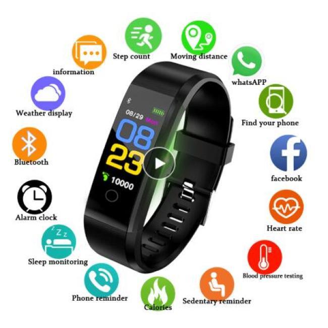 New Smart Watch Men Women Heart Rate Monitor Blood Pressure Fitness Tracker Smartwatch Sport Smart Bracelet for ios android
