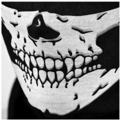 Multifunctional Cycling Bike Skull Skeleton Headwear Hat Neck Ghost Scarf Outdoor Motorcycle Bicycle Half Face Cap Headband