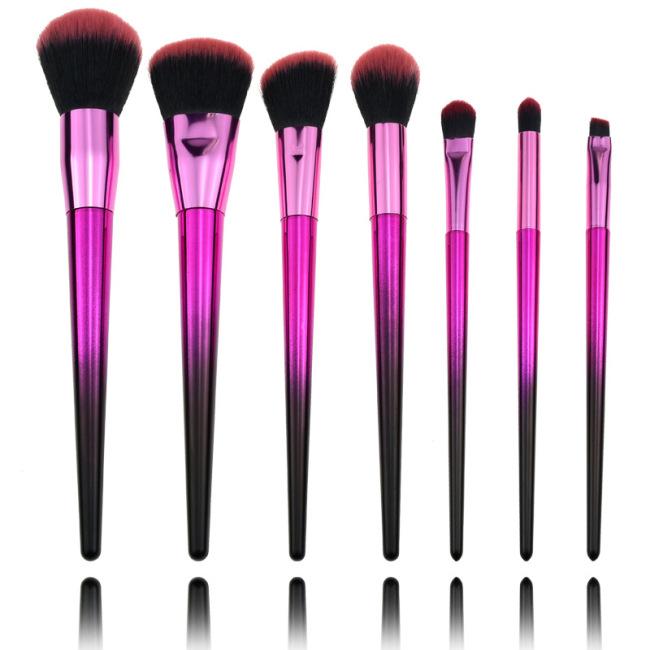 New Seven Diamond Gradient Makeup Brushes High-grade Fiber Hair Beauty Brushes Plastic Handle Beauty Tools