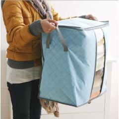 Thick non-woven bamboo charcoal color clothing storage storage bag clothing quilt bag