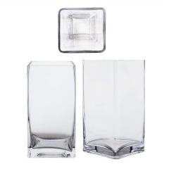 Square Vase-T 10x10cm H20cm