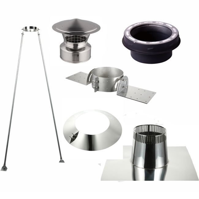 Chimney Pitched Ceiling Support Kit for 6 Inch Double Wall Chimney Pipe