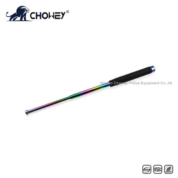 High-quality rubber handle steel anti riot expandable baton BT21B088 black