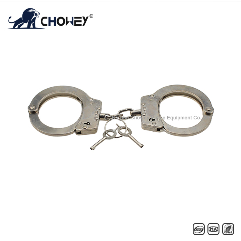 Nickel plated carbon steel handcuffs HC0814