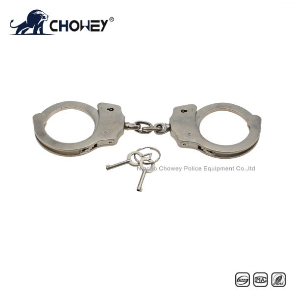 Nickel plated carbon steel handcuffs HC0824