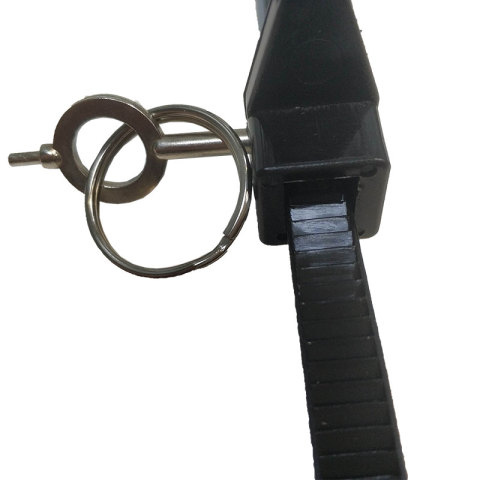 Police plastic handcuffs with key PHC0309