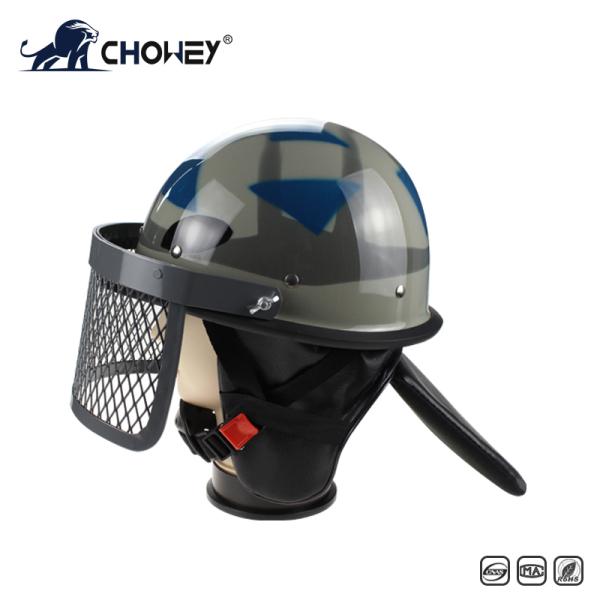 Military Anti Riot Control Helmet AH1084 with metal grid