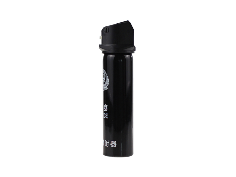 High capacity police pepper spray PS110M156 with safety device