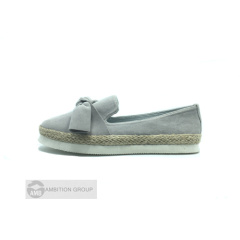 Chamois Leather Flat Espadrilles