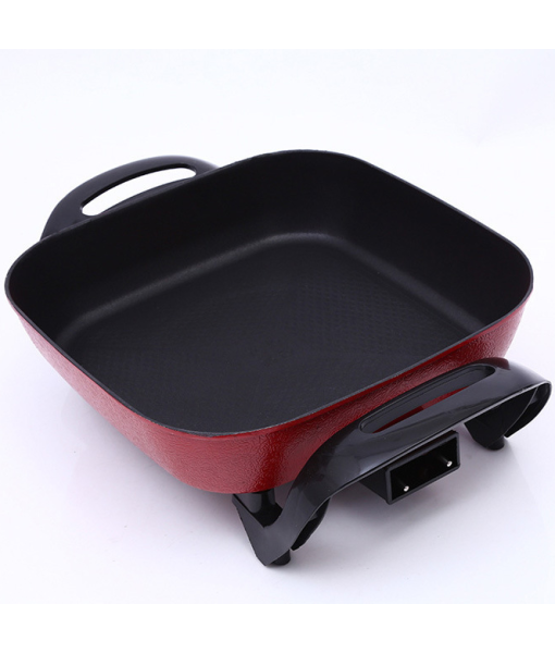 Square Electric Skillet Hot Pot for Home Use