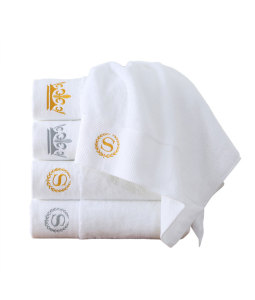 Custom Crisp White Cotton Towel For Kitchen