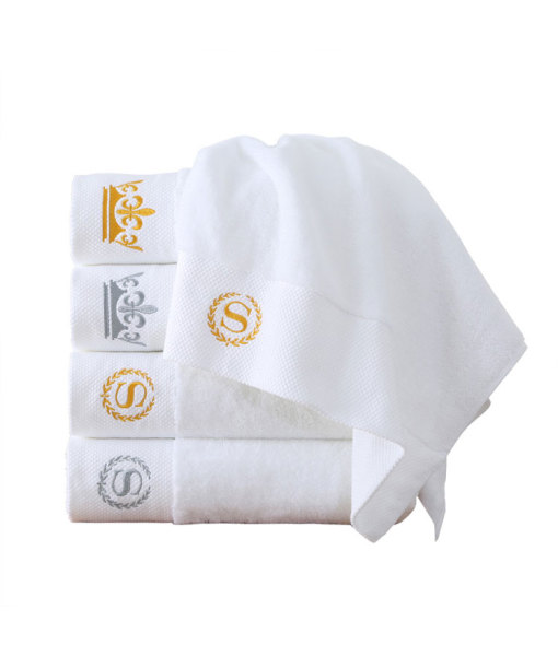 Custom Crisp White Cotton Towel For Kitchen