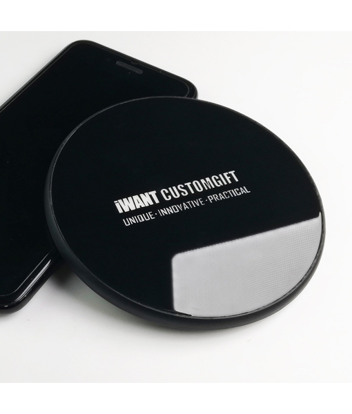 Mirror luminous toughened glass wireless charger