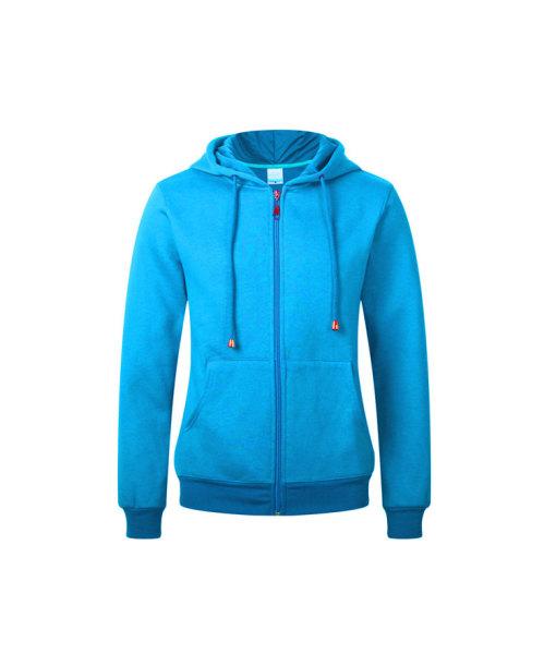 Comfortable Full-zip Hooded Cotton Sweatshirt