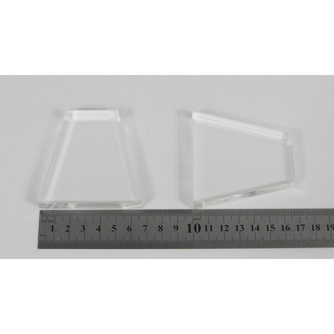 light guide, BK7, trapezium, 12mm*35mm*67mm*67mm H67mm, without coating