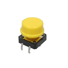 Hand piece button, yellow